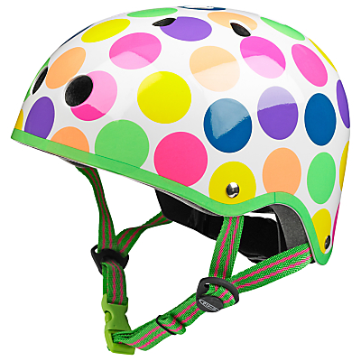 Micro Scooter Safety Helmet, Neon Dot, Medium