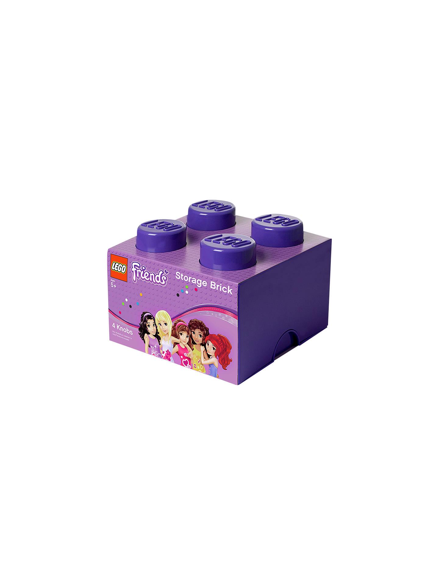 Lego Friends 4 Stud Storage Brick Purple At John Lewis Amp Partners