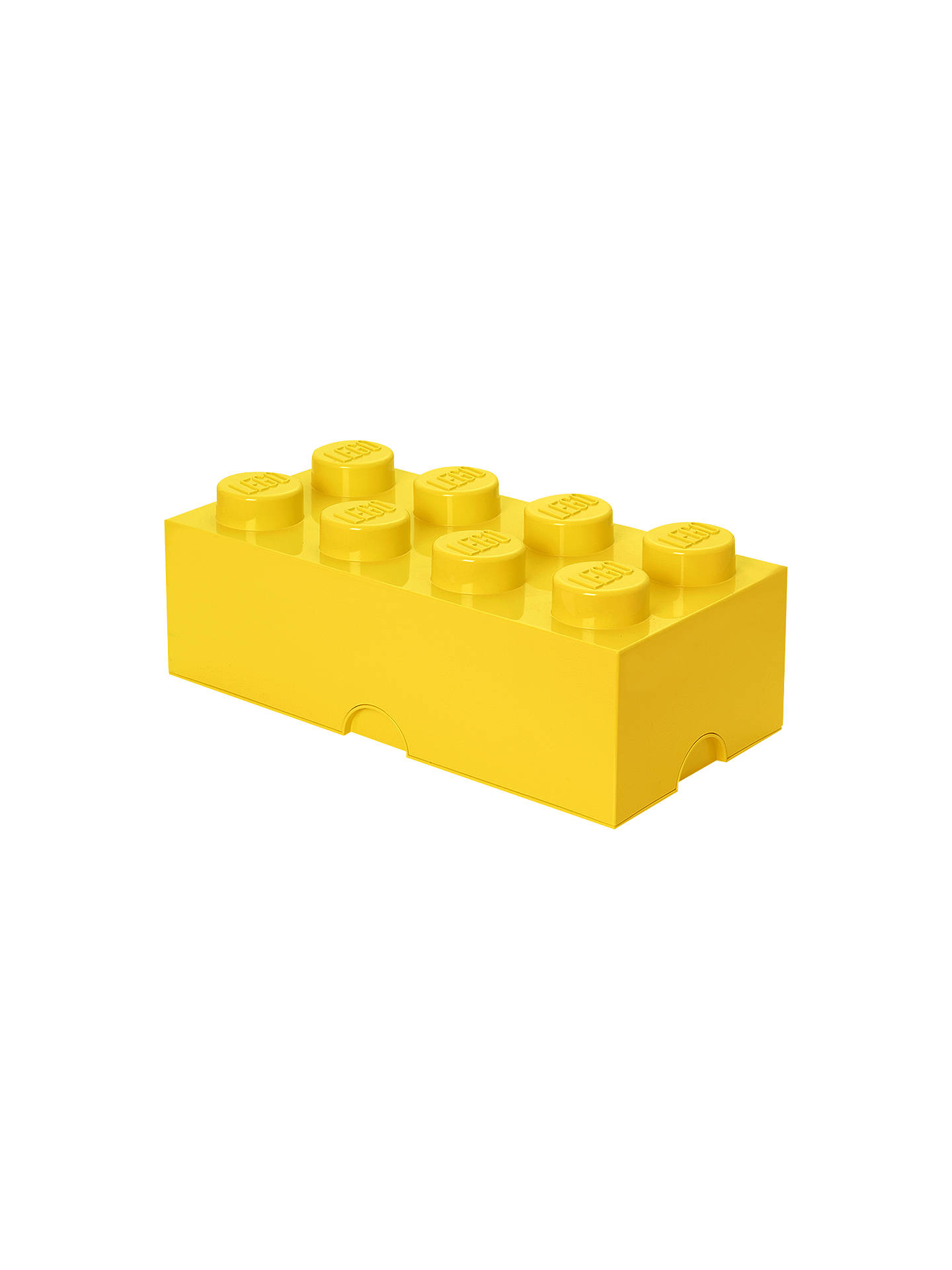 BuyLEGO 8 Stud Storage Brick, Yellow Online at johnlewis.com