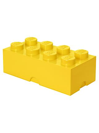 LEGO 8 Stud Storage Brick, Yellow