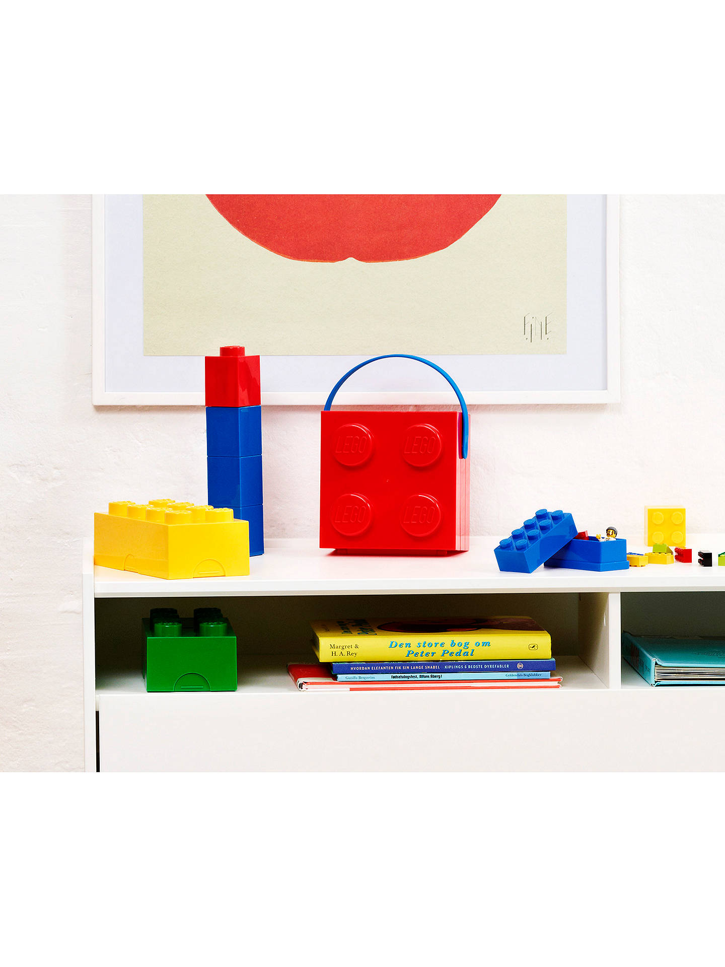Buy LEGO 8 Stud Storage Brick, Yellow Online at johnlewis.com