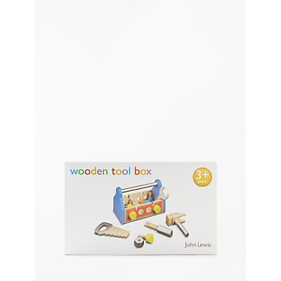 John Lewis Wooden Toolbox Set