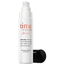 Buy Philosophy Time in a Bottle Eye Cream, 15ml Online at johnlewis.com