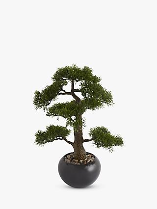 Artificial Bonsai Tree in a Stone Pot