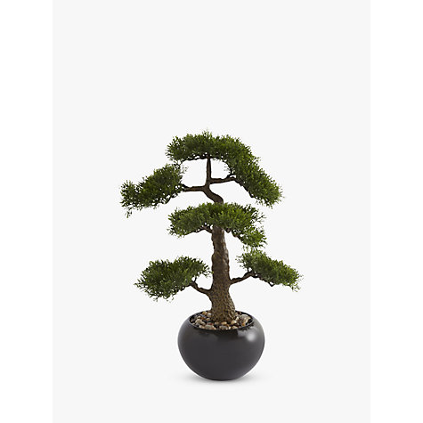 buy artificial bonsai tree in a stone pot online at