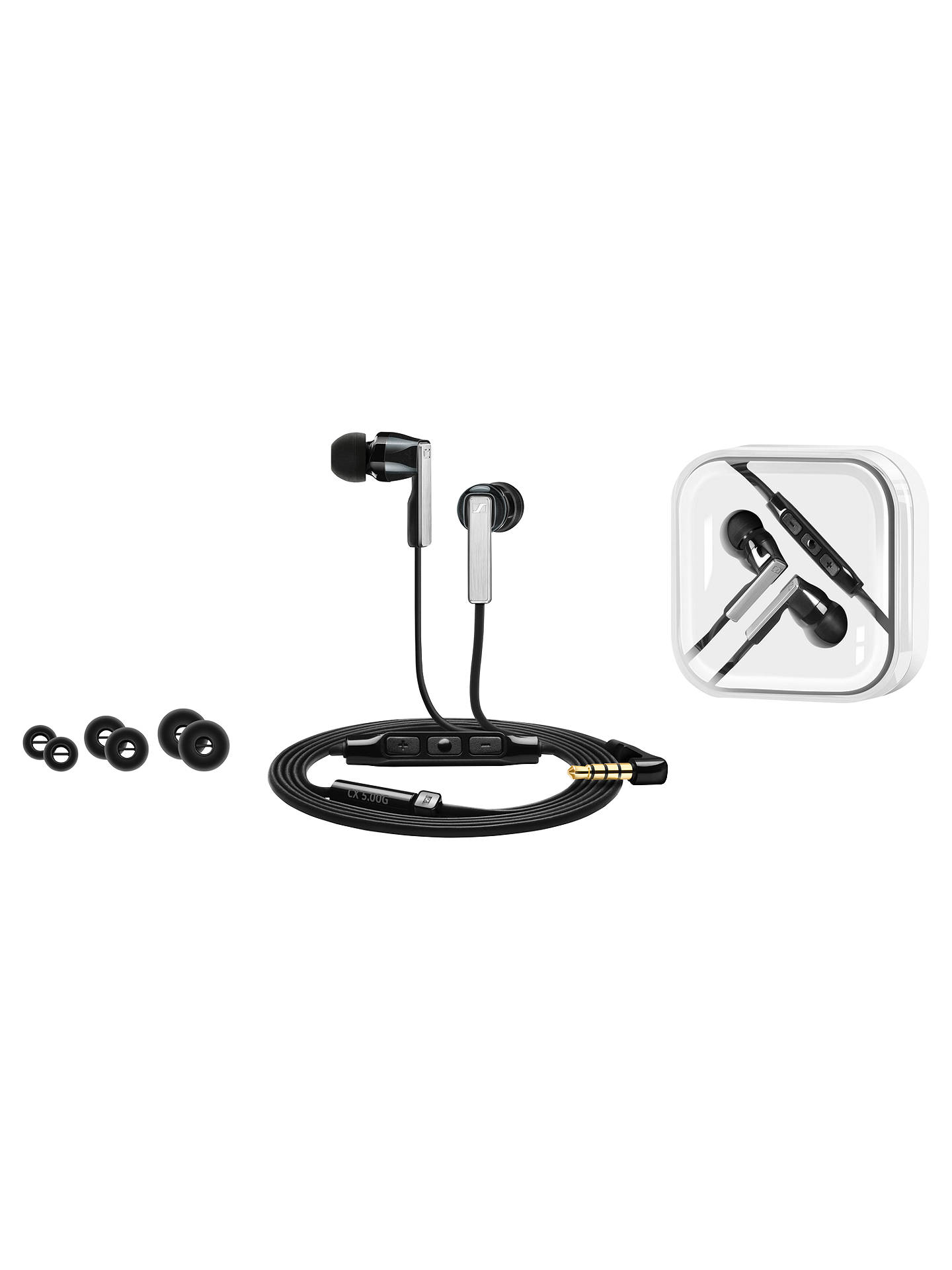 BuySennheiser CX 5.00 I In-Ear Headphones with Mic/Remote, Black Online at johnlewis.com
