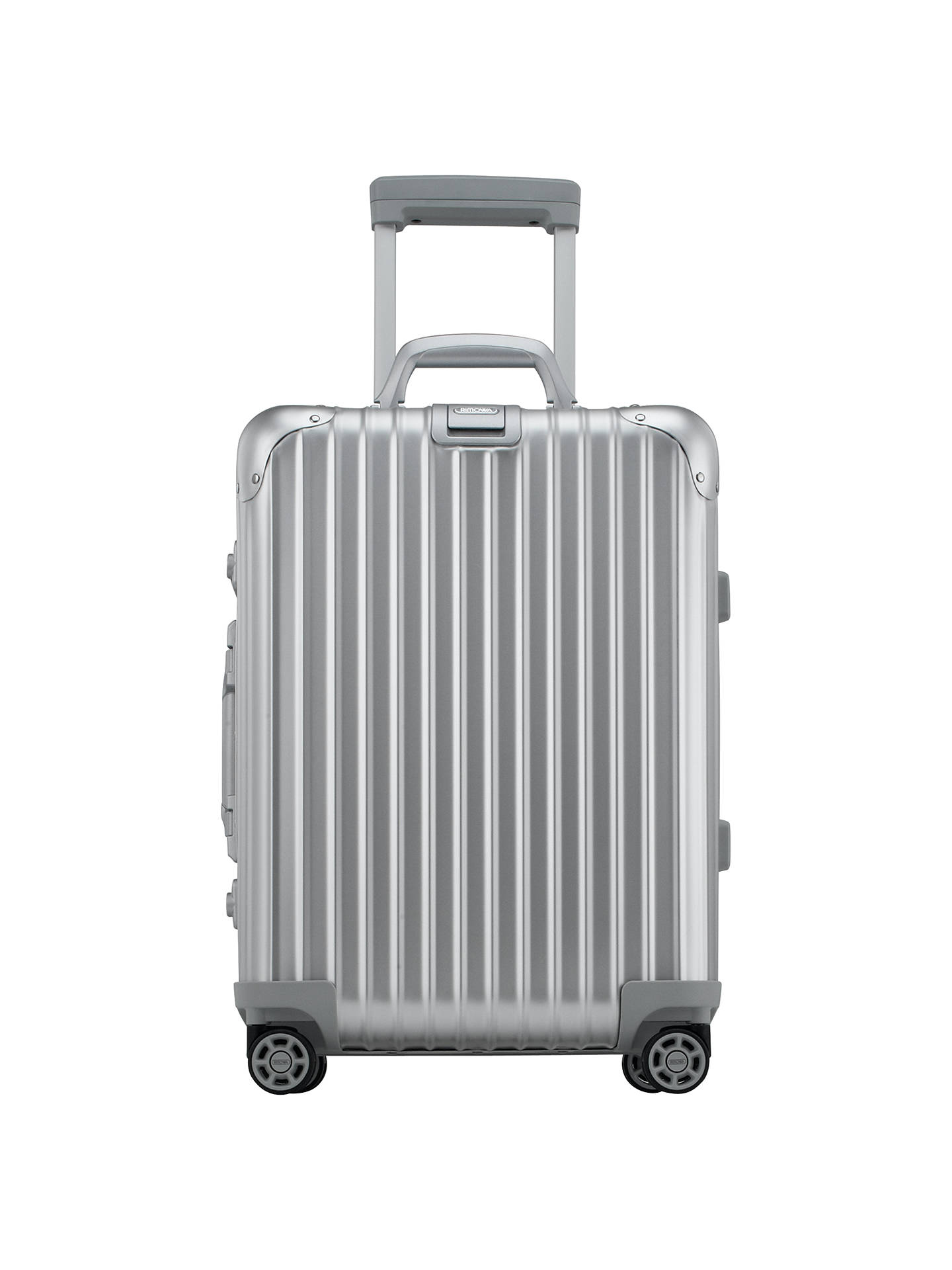 rimowa topas cabin trolley iata 55cm suitcase silver at. Black Bedroom Furniture Sets. Home Design Ideas