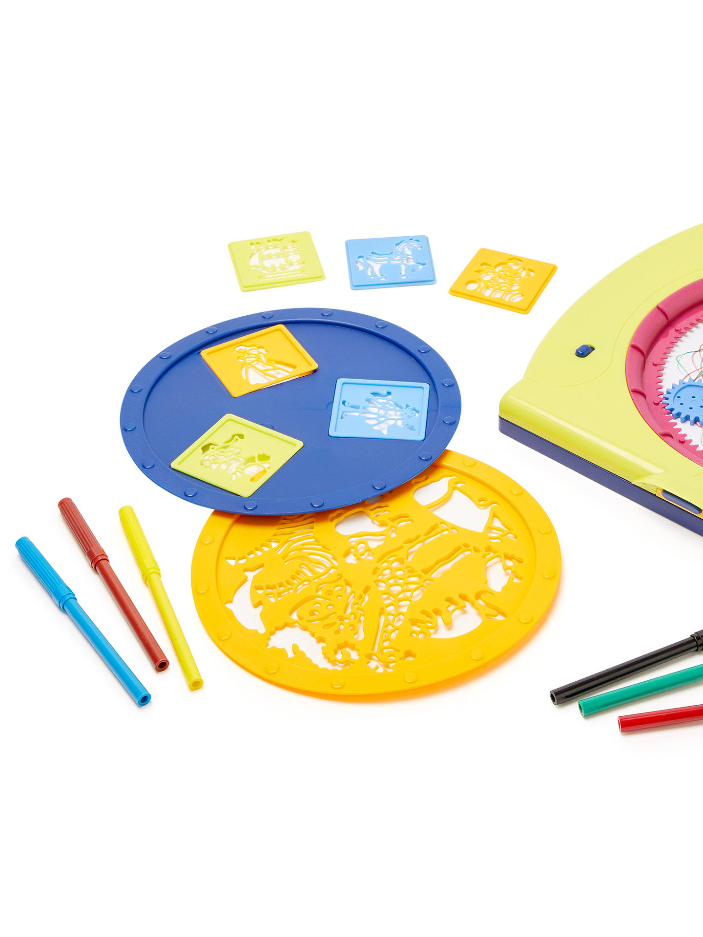 Buy John Lewis & Partners Mandala Drawing Toy & Stencil Set Online at johnlewis.com