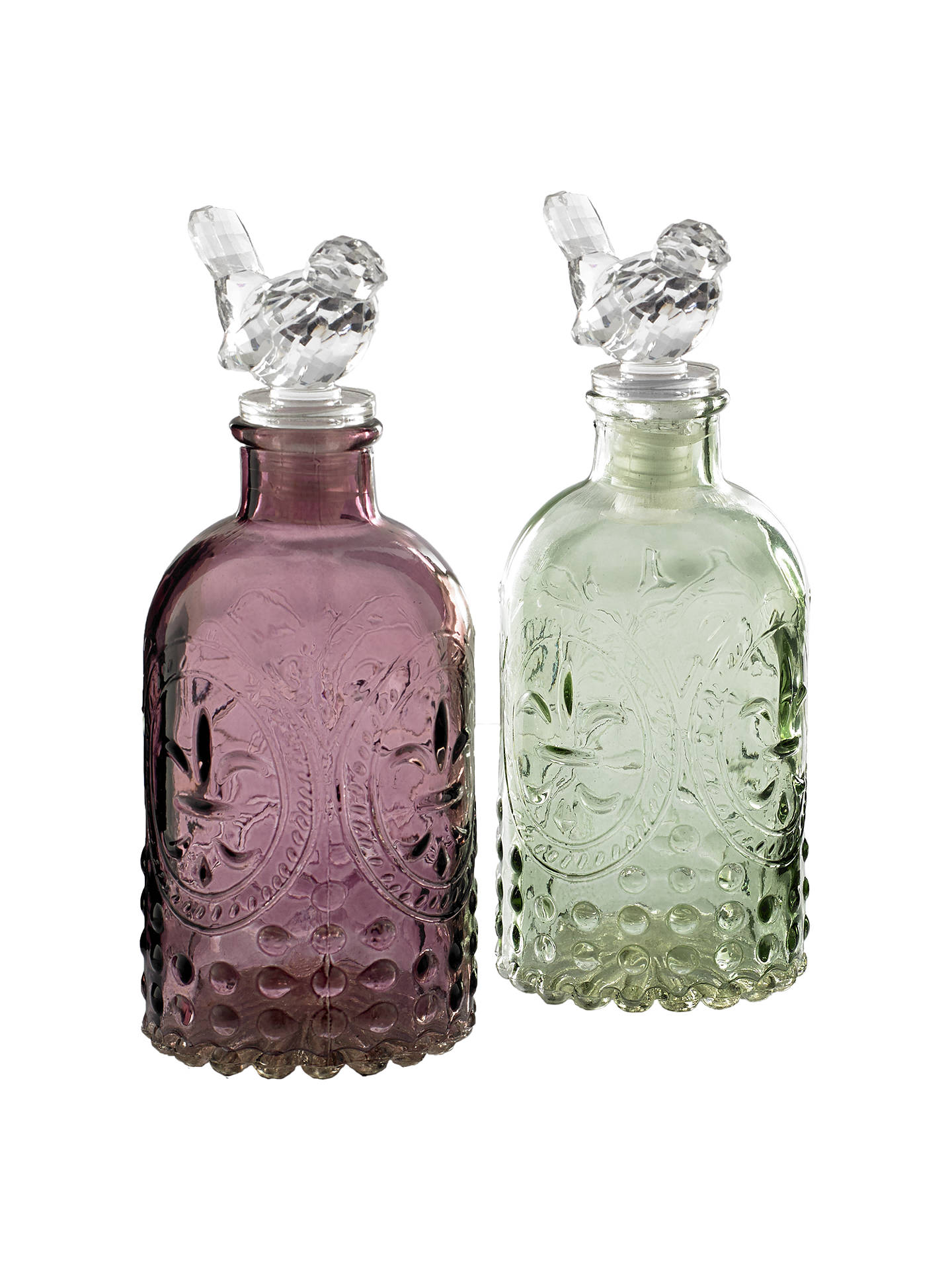 Buy Glass Bottle with Bird Stopper, Assorted Online at johnlewis.com
