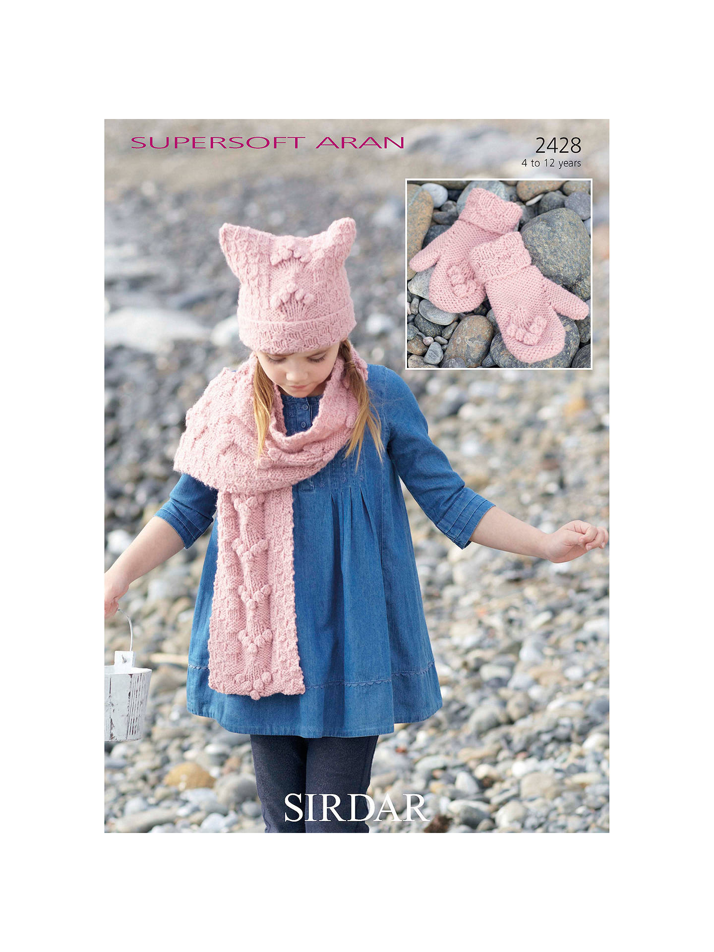 Sirdar Supersoft Children S Hat Scarf Gloves Knitting Patterns