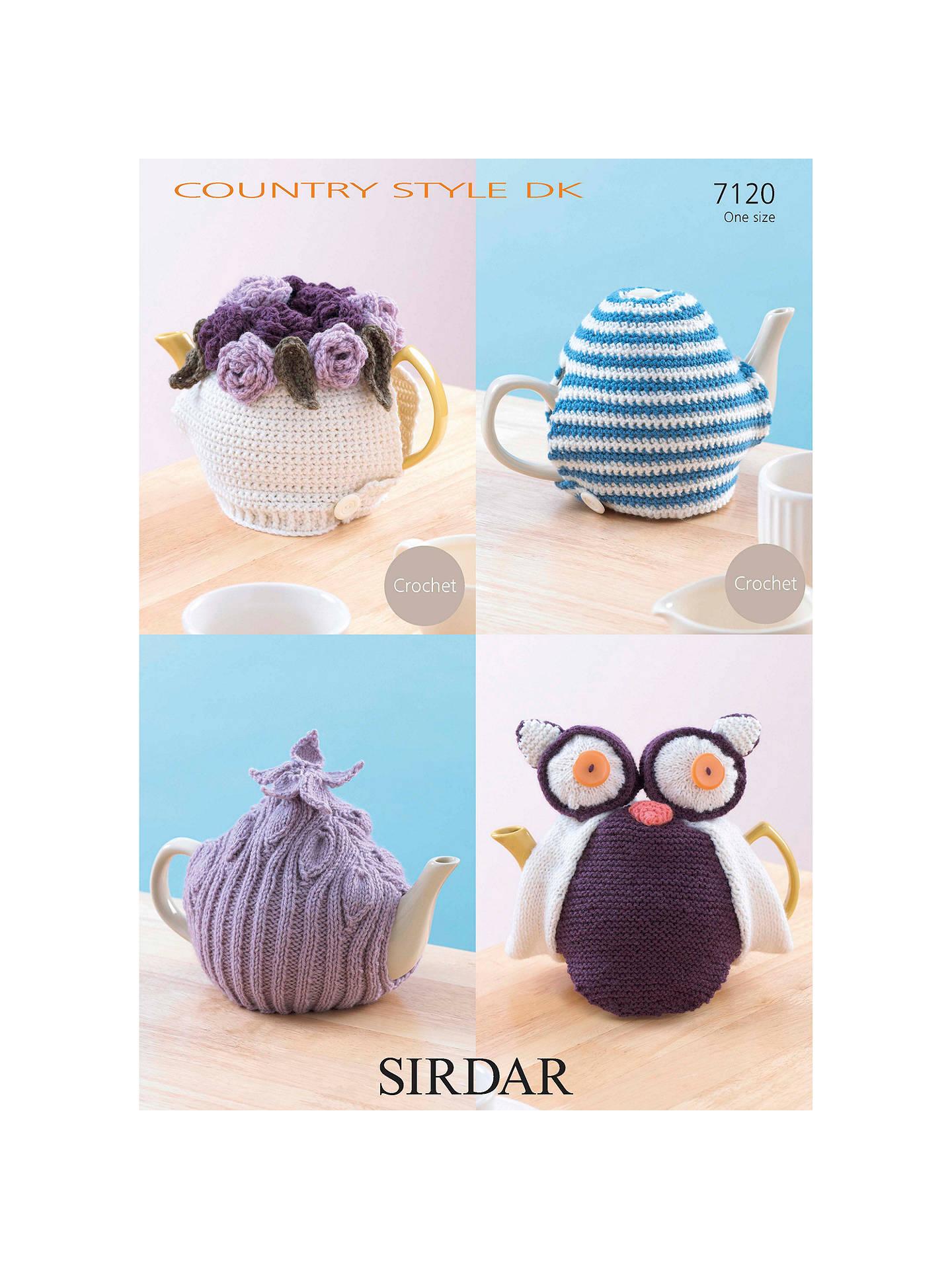 Sirdar Dk Tea Cosy Knitting Crochet Patterns 7120 At John Lewis