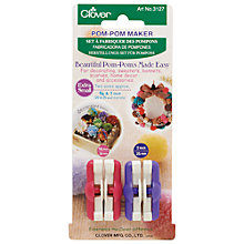 Buy Clover Extra Small Pom-Pom Maker, 3127 Online at johnlewis.com