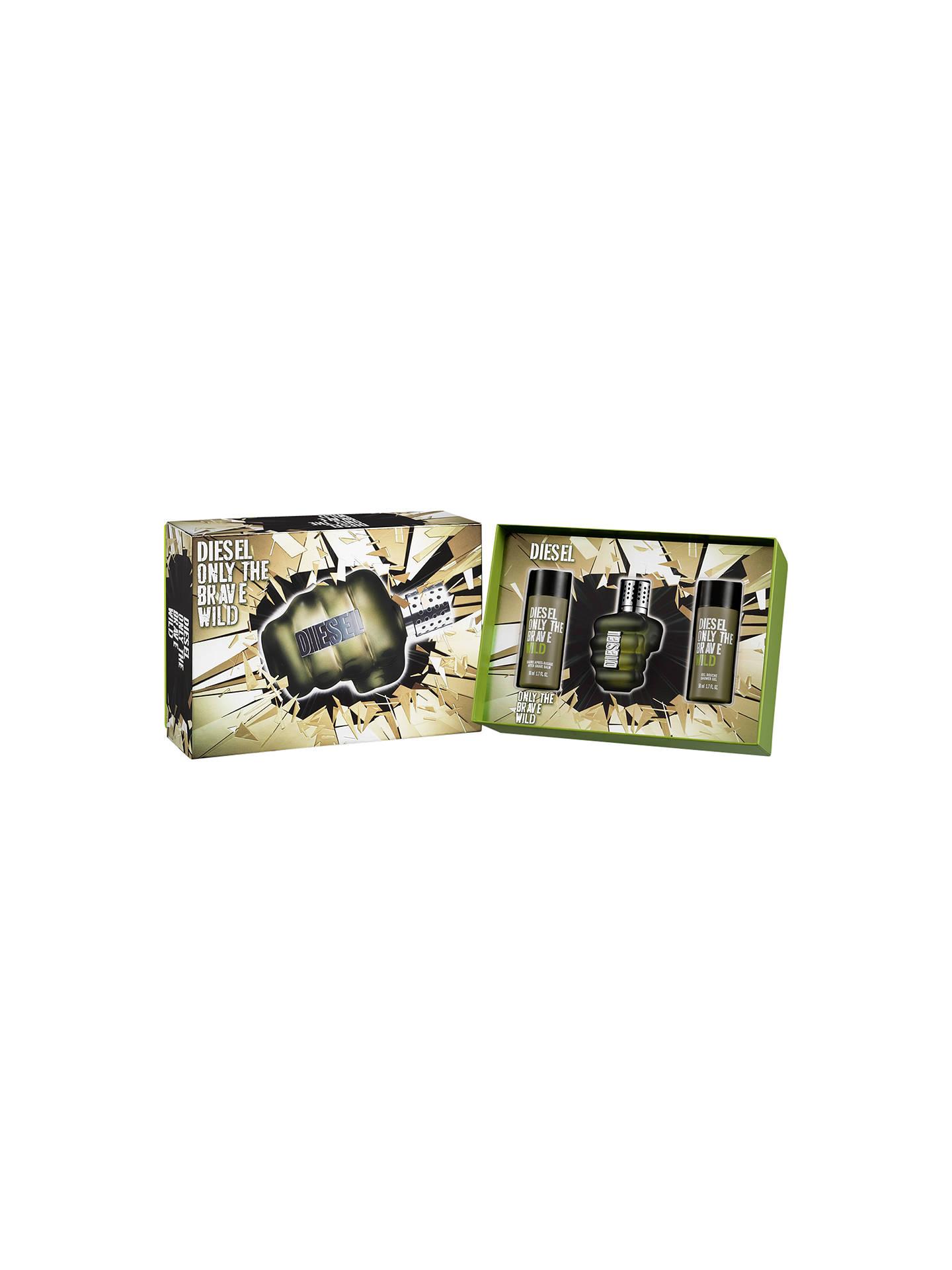 Diesel Only The Brave Wild Eau De Toilette Gift Set 3 X 50ml At