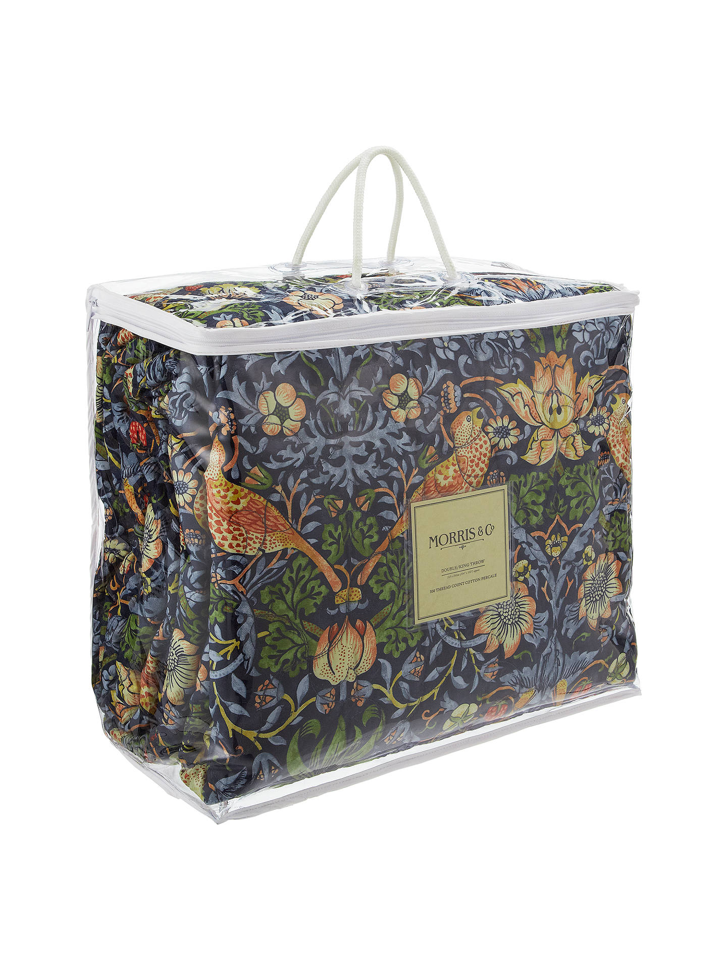 Buy Morris & Co. Strawberry Thief Bedspread, Blue Online at johnlewis.com