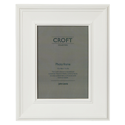 John Lewis Croft Frame, White, 5 x 7 (13 x 18cm)