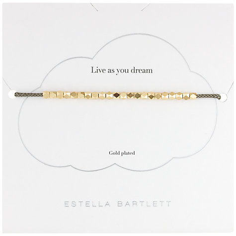 Buy Estella Bartlett Coco Bracelet, Grey/Gold Online at johnlewis.com