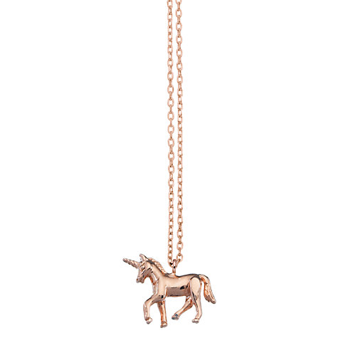 Buy Estella Bartlett Unicorn Pendant Necklace, Rose Gold Online at johnlewis.com