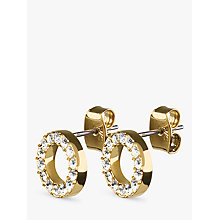 Buy Dyrberg/Kern Koro Brass Earrings, Gold Online at johnlewis.com