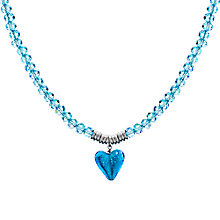 Buy Martick Murano Heart and Crystal Pendant Necklace Online at johnlewis.com