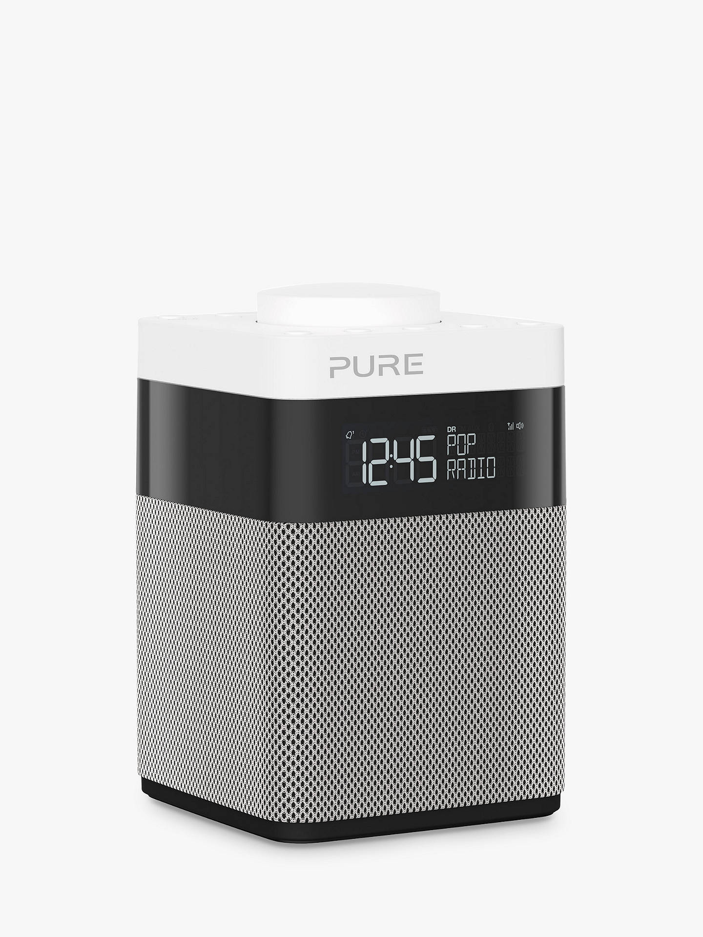 pure pop mini dab fm portable digital radio grey at john. Black Bedroom Furniture Sets. Home Design Ideas