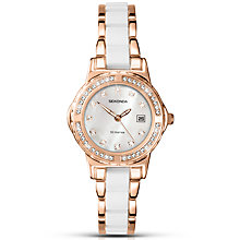 Buy Sekonda 2022.27 Women's Date Two Tone Bracelet Strap Watch, White/Rose Gold Online at johnlewis.com