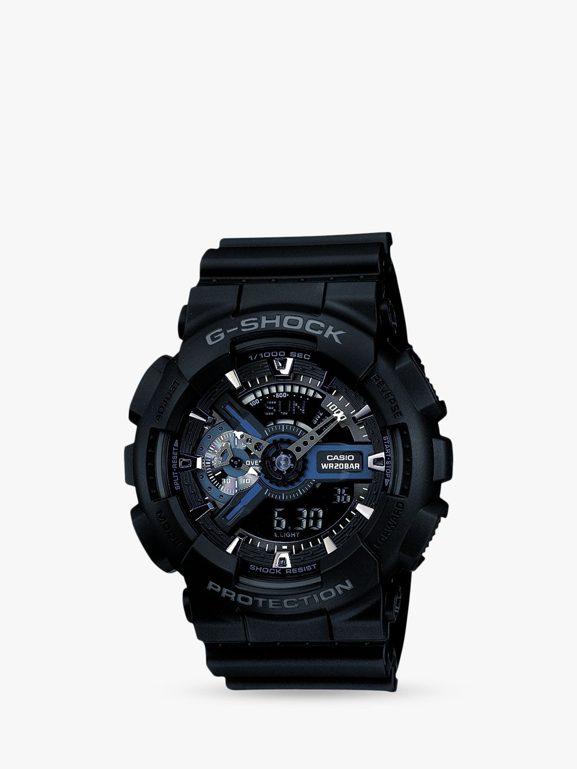 Casio Casio GA-110-1BER Men's G-Shock Resin Strap Watch, Black