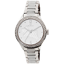 Buy Radley RY4189 Women's Giltzy Dog Dial Bracelet Strap Watch, Silver/White Online at johnlewis.com