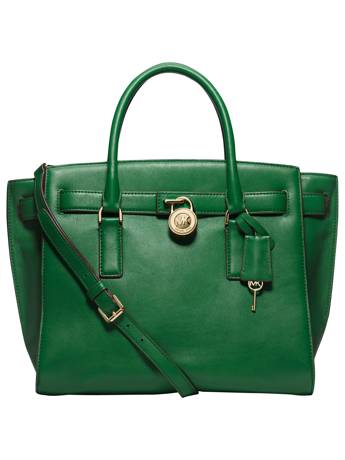 27d53888584907 Buy MICHAEL Michael Kors Hamilton Large Traveller Leather Tote Bag, Green  Online at johnlewis.