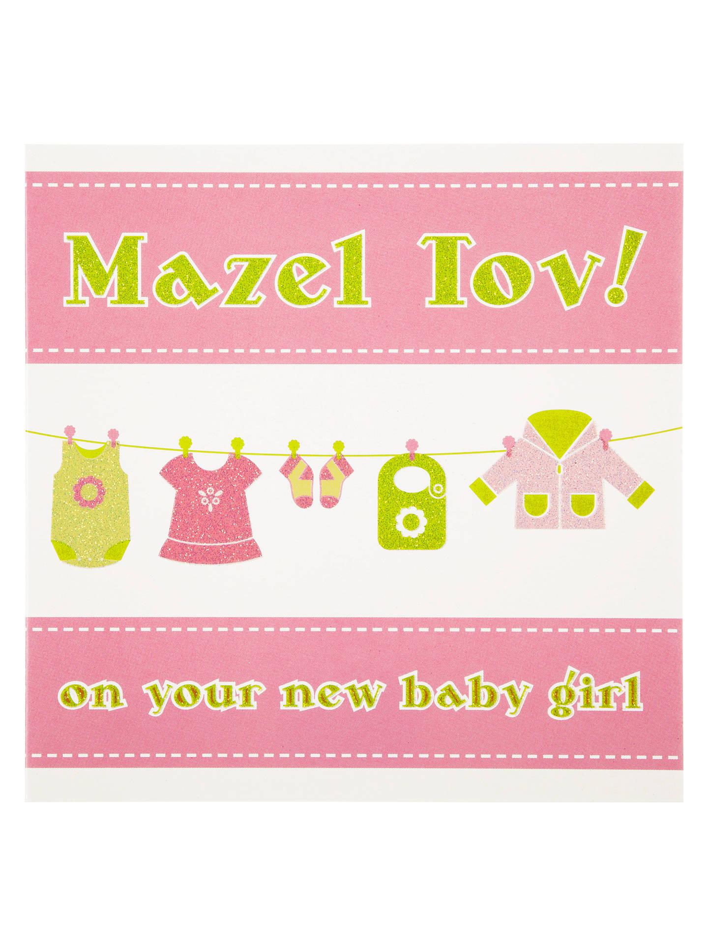 davora mazel tov new baby girl greeting card at john lewis partners
