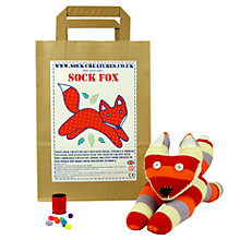 Buy Sock Creatures Sock Fox Craft Kit Online at johnlewis.com