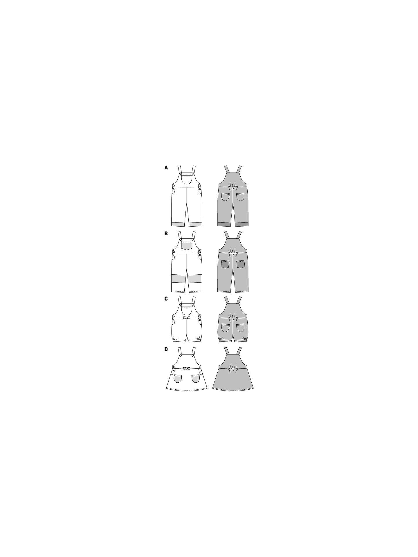 3 yr Sewing Pattern Burda 9424 Toddler Pinafore 6 month