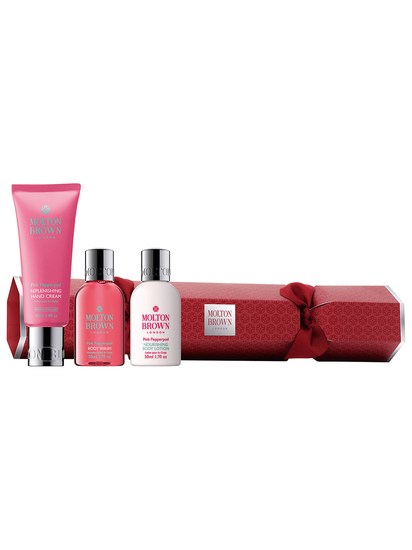 849ec5f8f026 Buy Molton Brown Pink Pepperpod Christmas Cracker Body Care Gift Set Online  at johnlewis.com