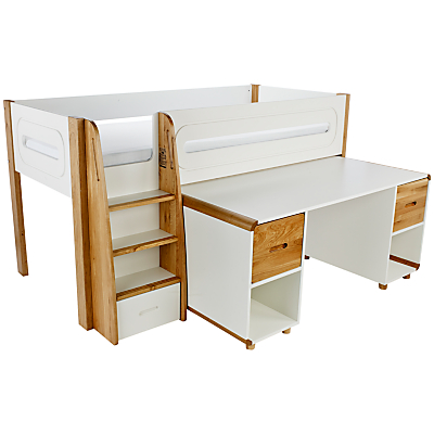 Stompa Curve Mid-Sleeper and Desk, 2 Doors