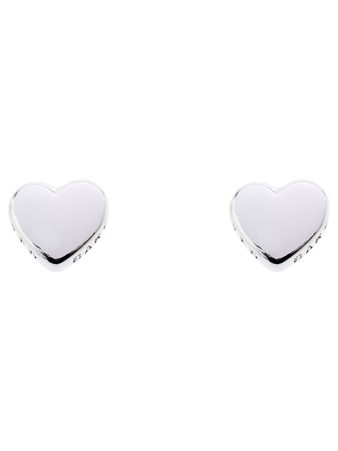 6daaf02df Buy Ted Baker Harly Tiny Heart Stud Earrings, Silver Online at  johnlewis.com ...