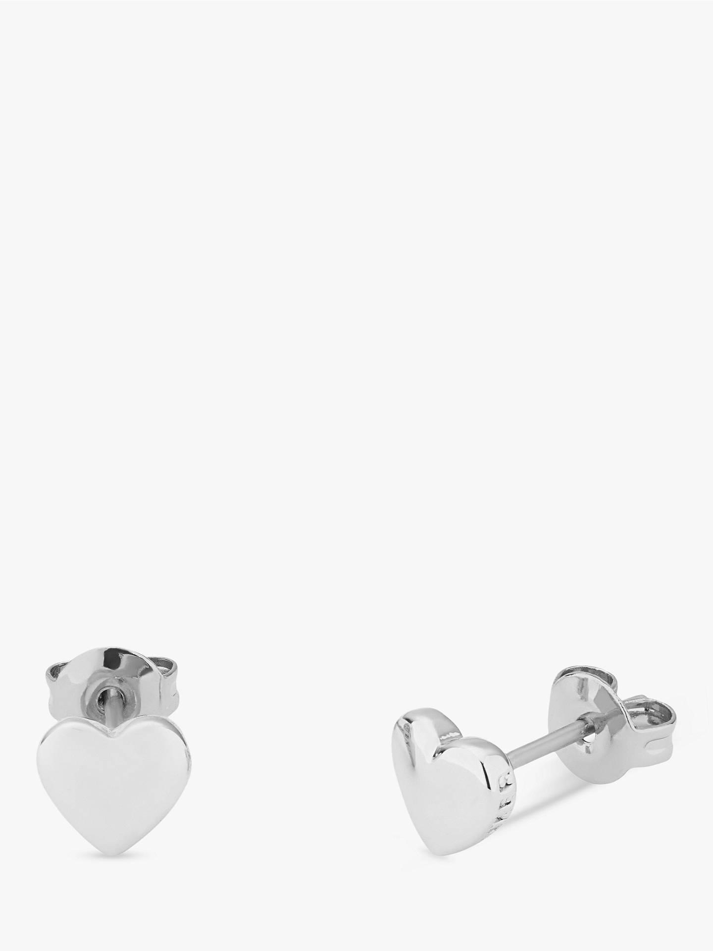 Buy Ted Baker Harly Tiny Heart Stud Earrings, Silver Online at johnlewis.com
