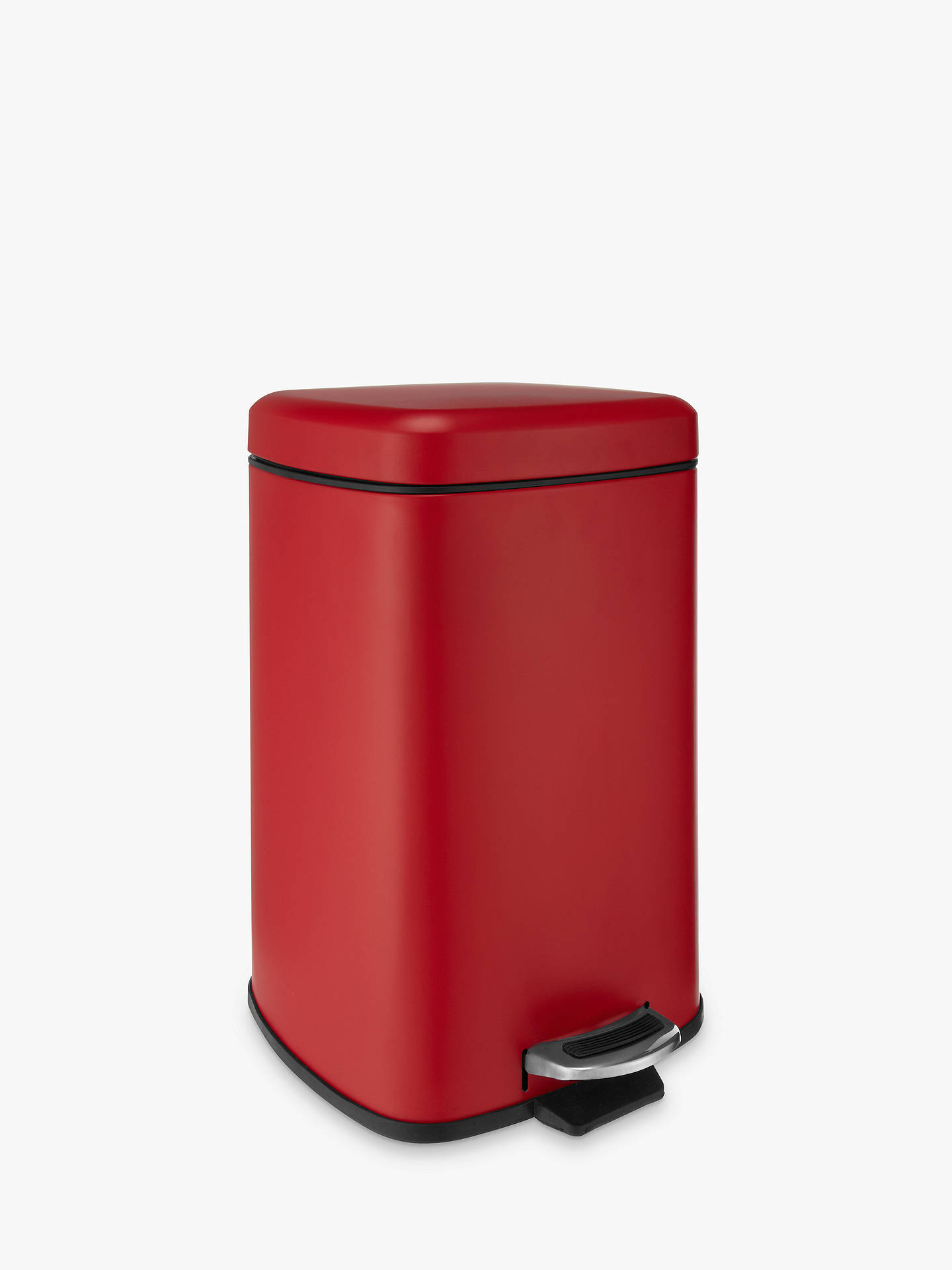 BuyHouse by John Lewis Pedal Bin, 12L, Red Online at johnlewis.com