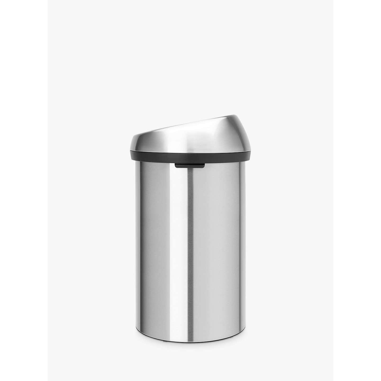 brabantia touch bin fingerprint proof matt steel 60l at. Black Bedroom Furniture Sets. Home Design Ideas
