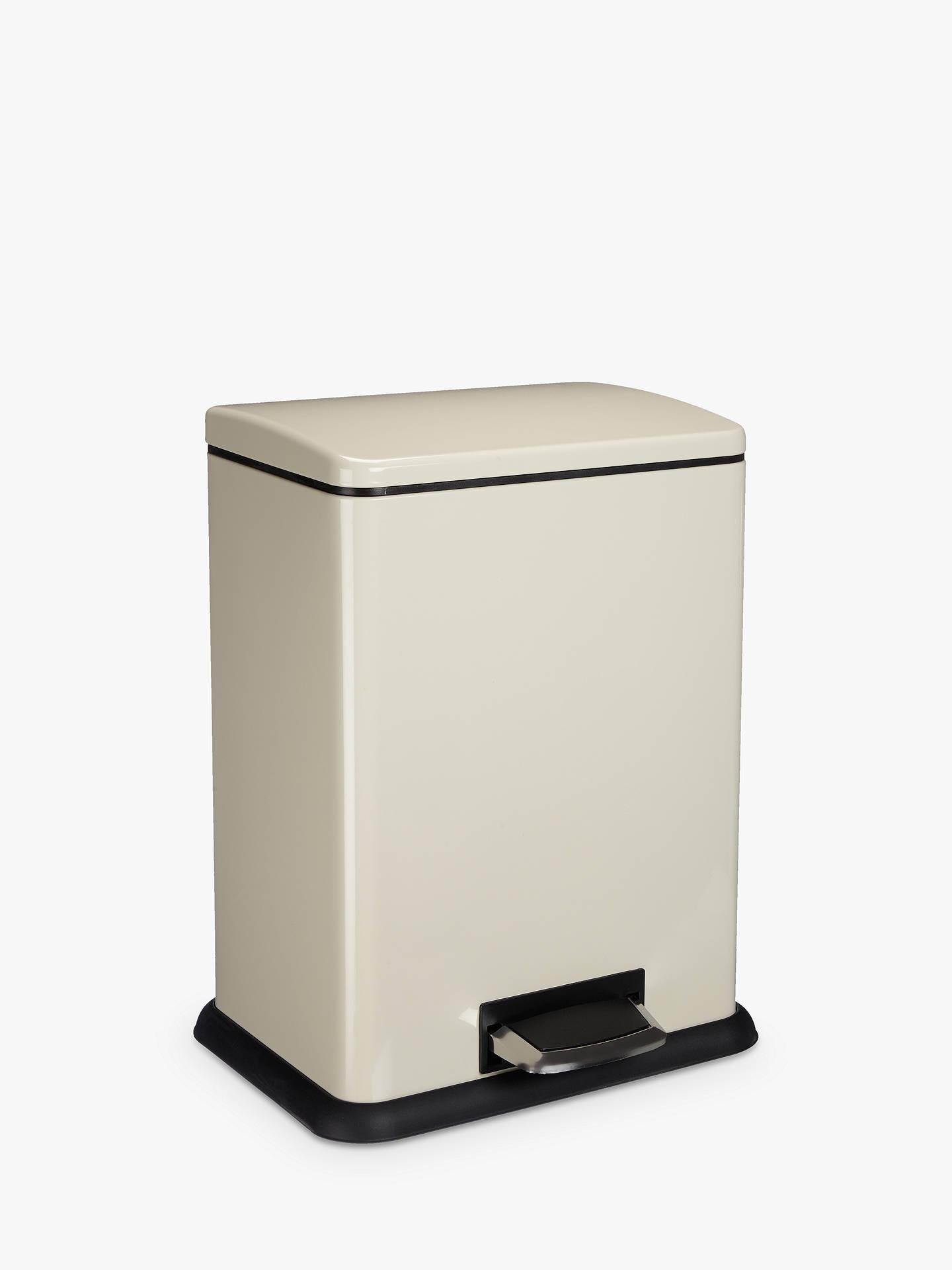 john lewis partners 2 section recycling bin cream 2 x. Black Bedroom Furniture Sets. Home Design Ideas
