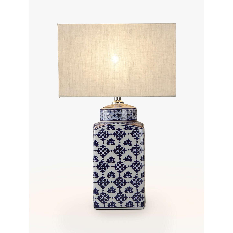 BuyJohn Lewis Beth Ceramic Lamp Base, Blue/White Online At Johnlewis.com ...