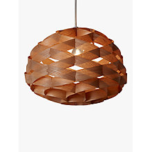 Buy John Lewis Alvin Easy-to-Fit Wood Veneer Ceiling Light Online at johnlewis.com