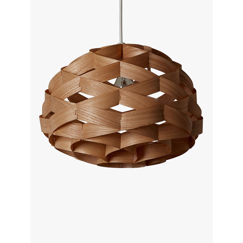 wood veneer lighting. BuyJohn Lewis Alvin Easy-to-Fit Wood Veneer Ceiling Light Online At Johnlewis. Lighting E