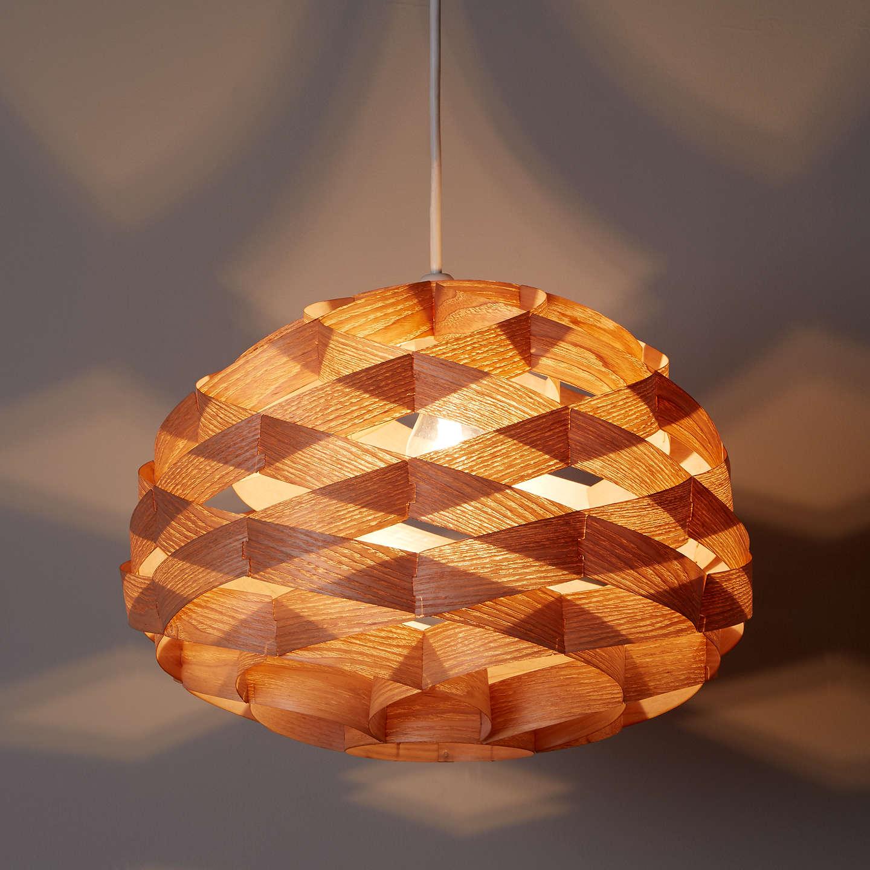 John Lewis Alvin Easy To Fit Wood Veneer Ceiling Light Online At Johnlewis