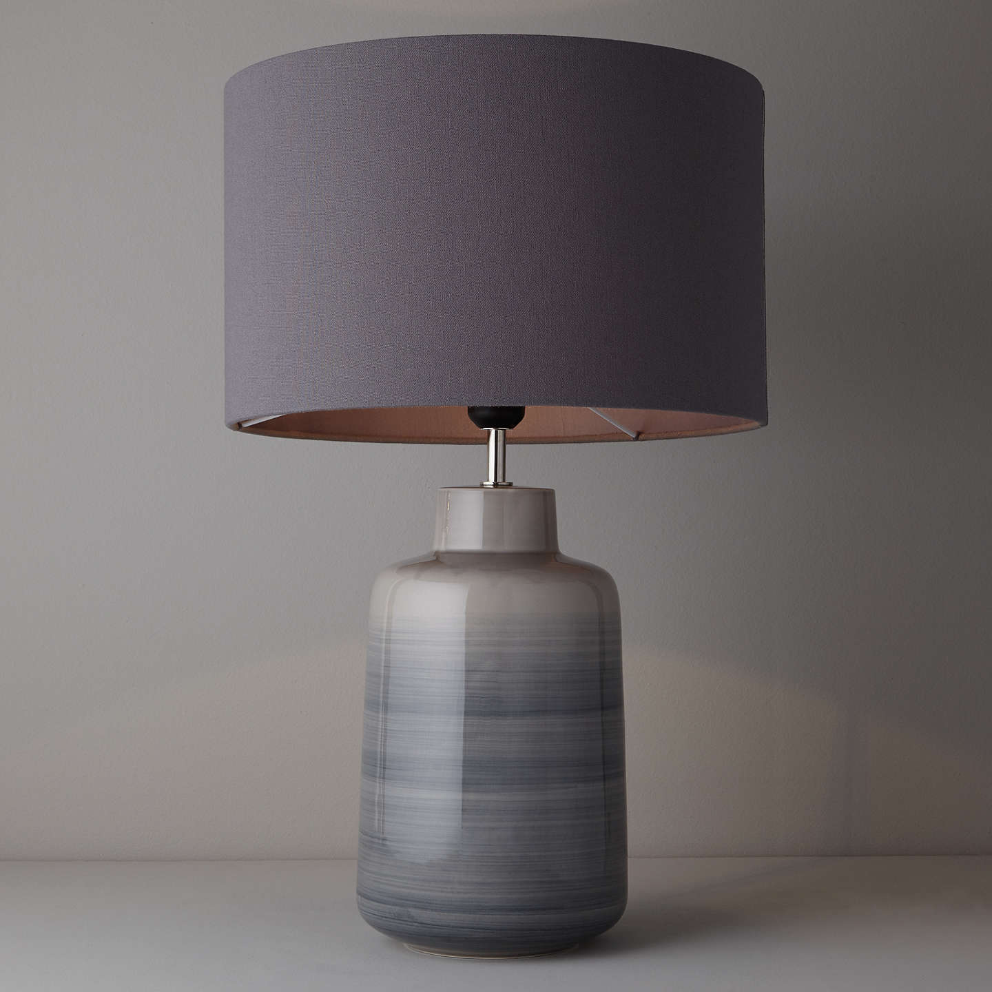 grey rustic ceramic table udine lamp base image