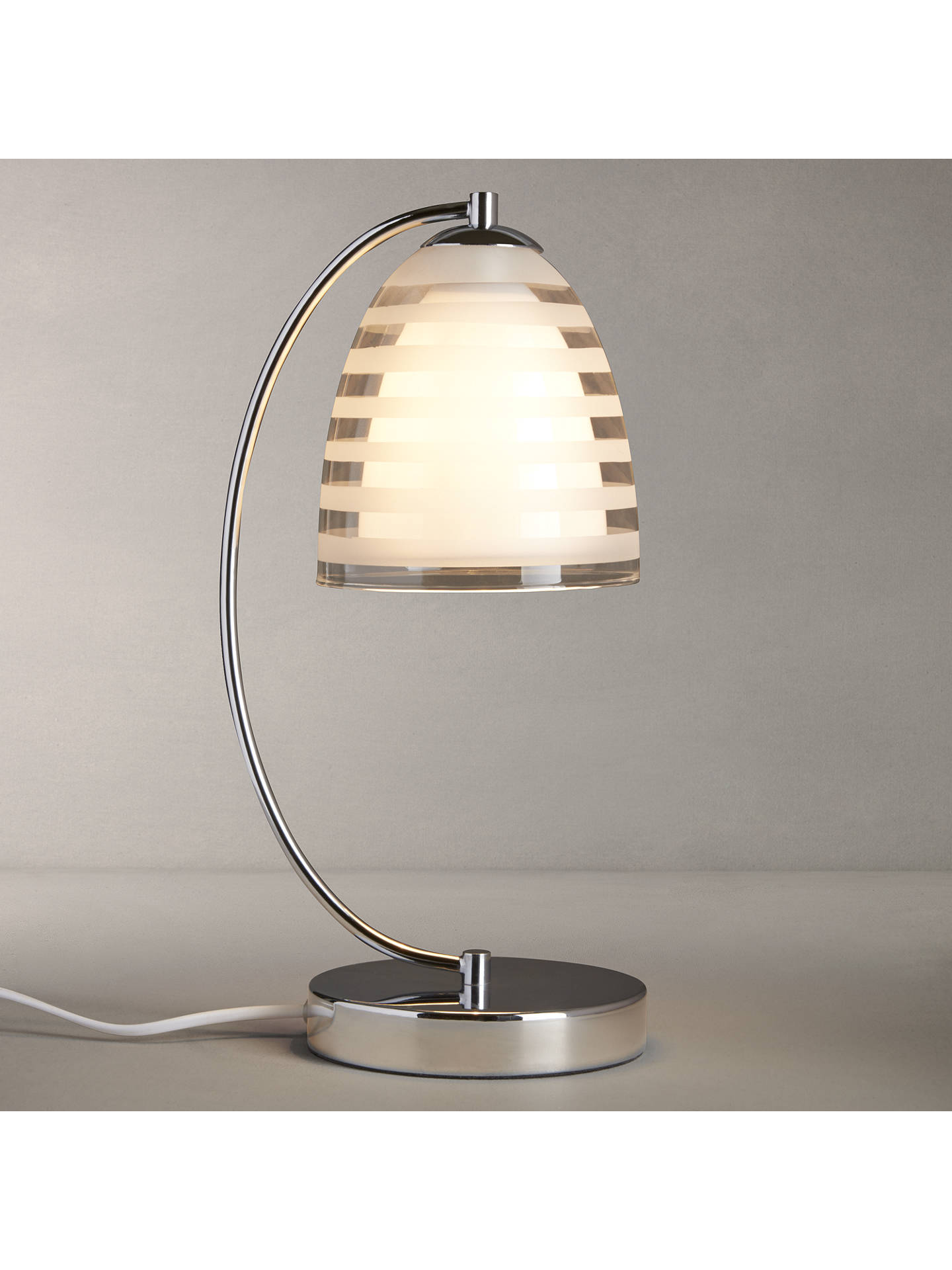 BuyJohn Lewis Amaury Striped Glass Touch Control Table Lamp Online at johnlewis.com