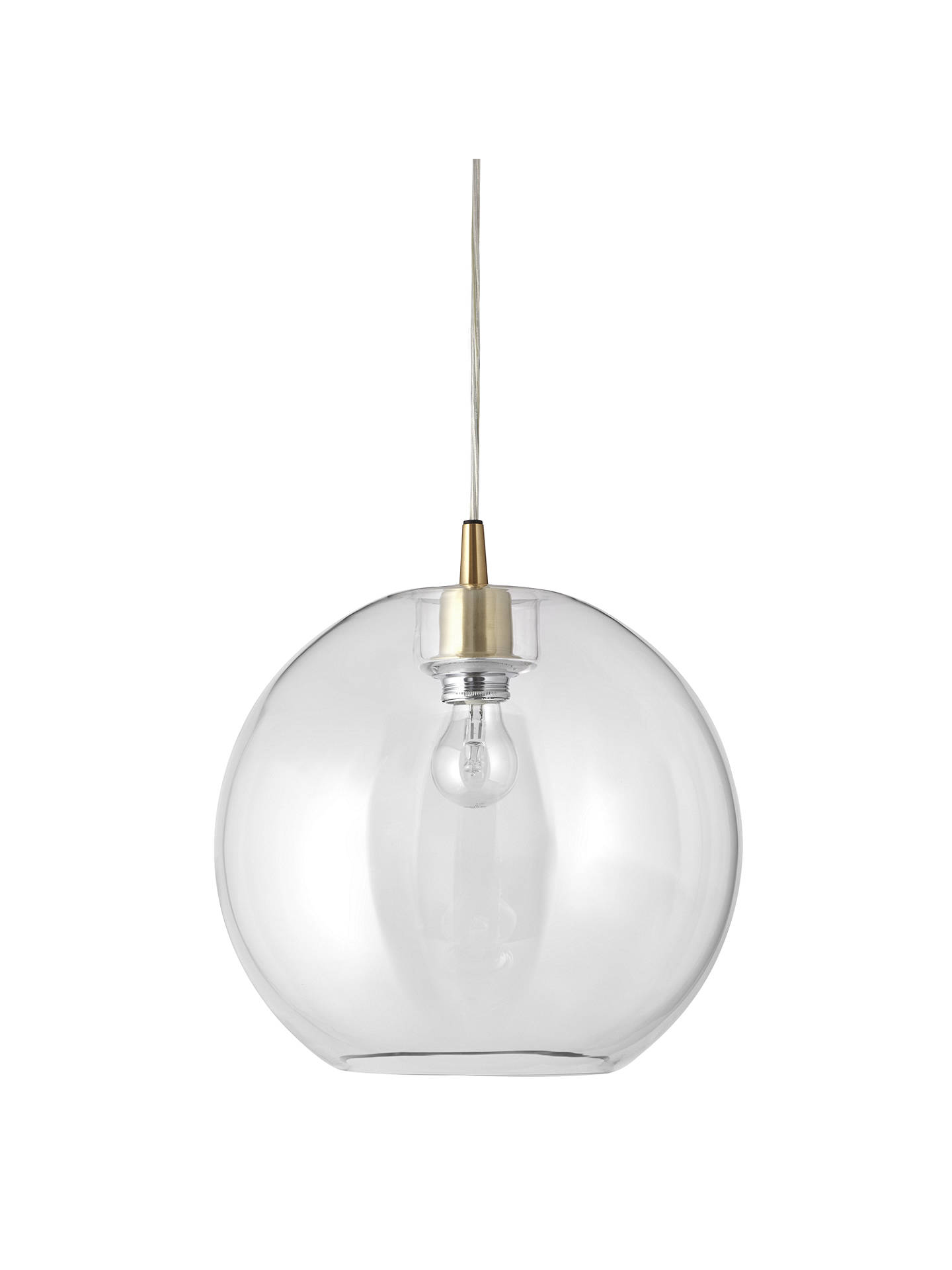 Buy Belid Gloria Glass Brass Ceiling Light, Clear/Brass Online at johnlewis.com