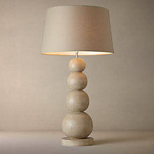 Buy John Lewis Ferris Sand Wash Wood Lamp Online at johnlewis.com