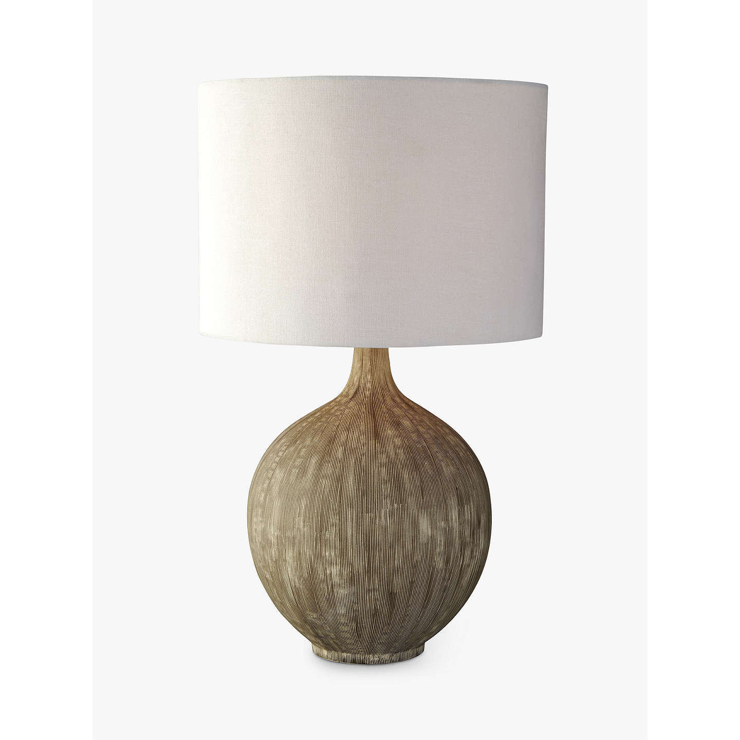 John lewis ebony table lamp large at john lewis for Table lamp shades john lewis