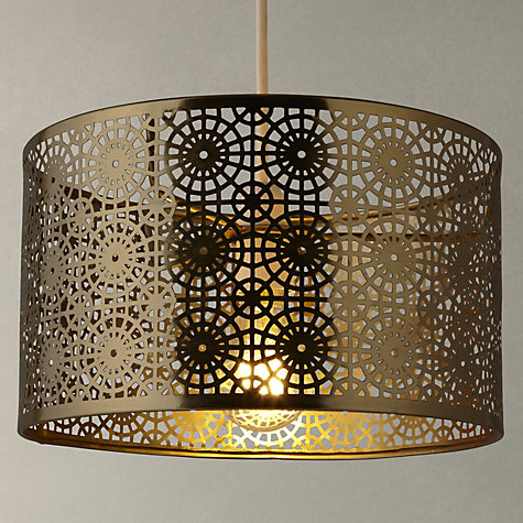 buy john lewis eila cutwork shade brass online at - Metal Lamp Shades