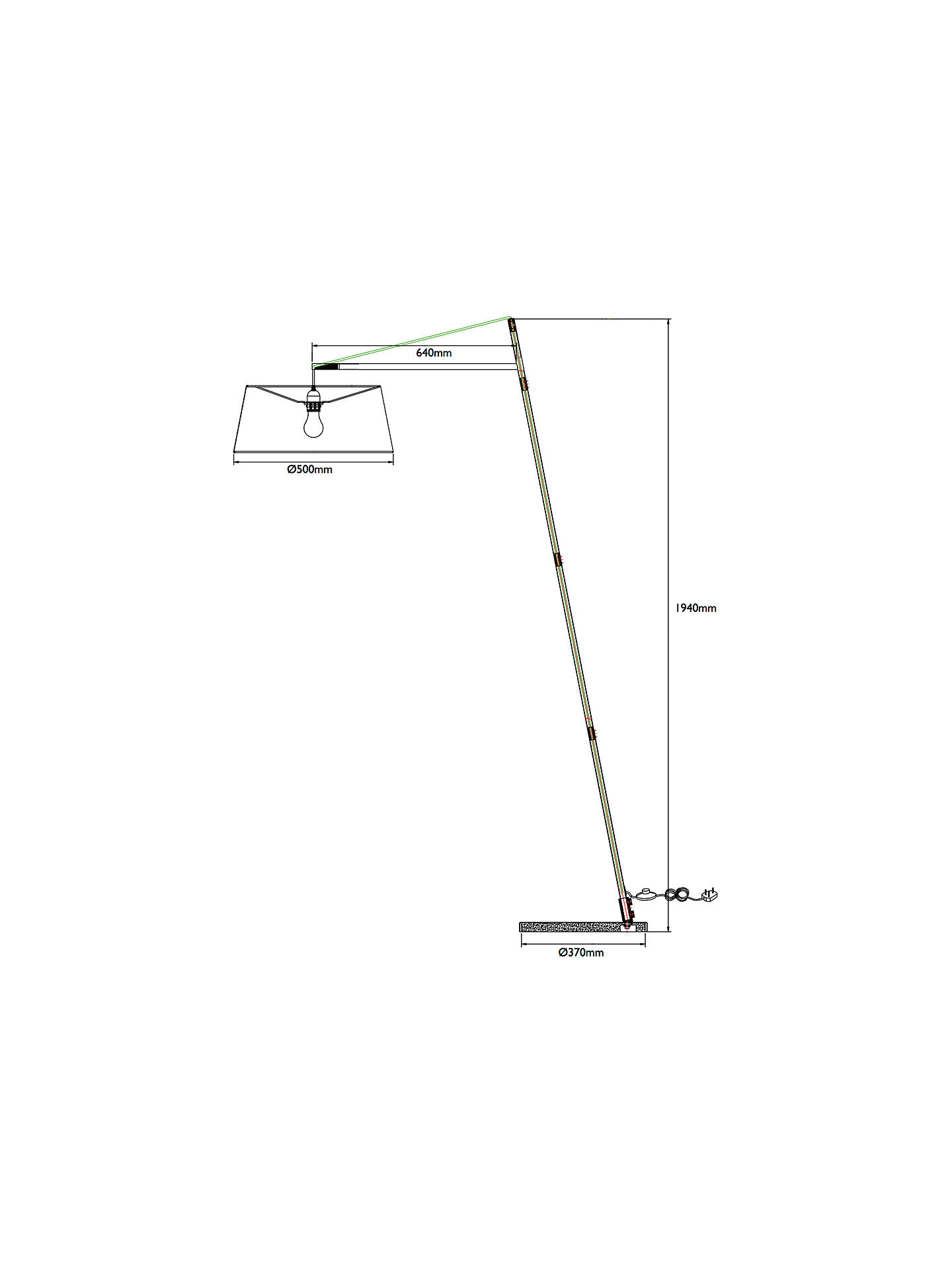 BuyJohn Lewis & Partners Grayson Reach Floor Lamp, Grey Online at johnlewis.com