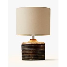 Buy John Lewis Ira Ribbed Wooden Table Lamp, Natural Online at johnlewis.com